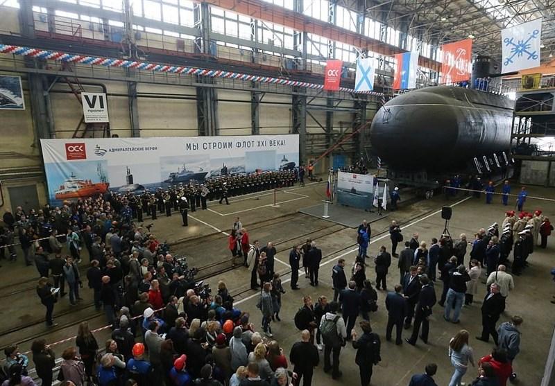 روسیه زیردریایی «روح دریا» را به آب انداخت+تصاویر