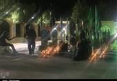 عزاداری شام غریبان سیدالشهدا (ع) درکنار قبور شهدای مدافع حرم استان مرکزی+فیلم
