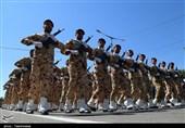 رژه نیروهای مسلح در بجنورد به روایت تصویر