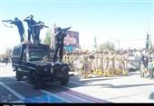 رژه نیروهای مسلح در شهرستانهای کهگیلویه و بویراحمد برگزار شد+تصاویر