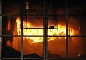 آتش گرفتن 3 مغازه تعمیرات خودرو در جاده خاوران + تصاویر