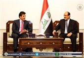 عراق|دیدار مالکی و بارزانی؛ تاکید بر تشکیل سریع دولت