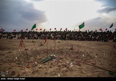 تعزیه حضرت علی اکبر و تدفین شهدای دشت کربلا - نوش آباد
