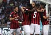 فوتبال جهان  میلان در آخرین ثانیهها پیروزی را از دست داد