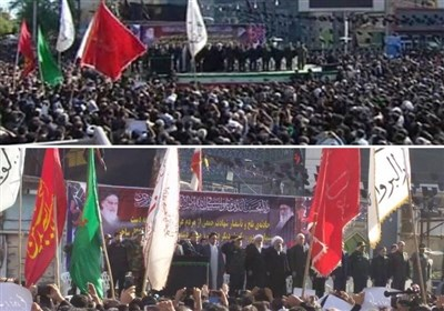 بدء مراسم تشییع شهداء الهجوم الإرهابی فی الأهواز.. مشارکة واسعة للعشائر العربیة+ صور وفیدیو