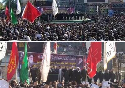 بدء مراسم تشییع شهداء الهجوم الإرهابی فی الاهواز