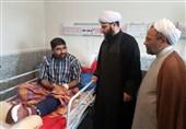 حضور رییس سازمان تبلیغات اسلامی در میان مجروحان حادثه تروریستی اهواز
