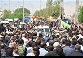 خوزستان| ندای لبیک یا حسین در تشییع شهدای حادثه تروریستی اهواز در بهبهان پیچید