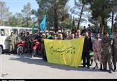 سمنان| روایت تصاویر از اعزام نمادین رزمندگان به جبهه های حق علیه باطل در دامغان