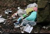 زبالههای جامانده در طبیعت گیلان؛ ارمغان مسافران تابستانی