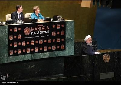سخنرانی دکتر روحانی در اجلاس صلح برای بزرگداشت نلسون ماندلا