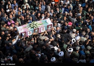 مراسم تشییع شهید حادثه تروریستی اهواز در سبزوار