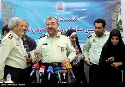 نشست خبری سردار بهرام نوروزی رئیس سازمان وظیفه عمومی ناجا