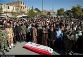 مراسم تشییع شهید حادثه تروریستی اهواز در لرستان