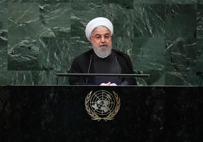آغاز سخنرانی ویدئو کنفرانسی روحانی در مجمع عمومی سازمان ملل