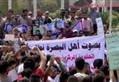 عراق| تظاهرات مجدد در بصره ؛ تاکید بر لزوم بهبود خدمات