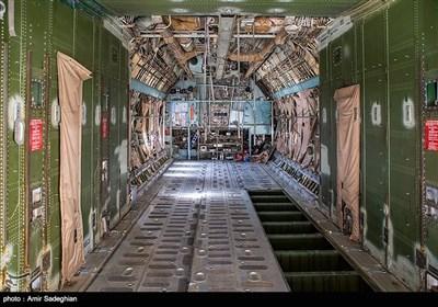 اورهال هواپیمای سی 130 و ایلوشین روسی در پایگاه هوایی شهید دوران شیراز