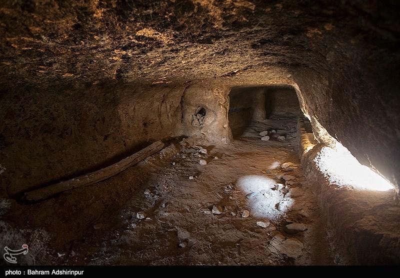 ناگفتههای کاوش معماری دستکند و غارهای زیرزمینی «گنزق» در سرعین