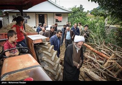 بازدید نماینده ولی فقیه در گیلان از مناطق سیل زده تالش