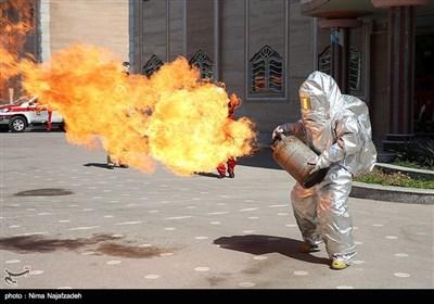 مانور آتش نشانی - مشهد