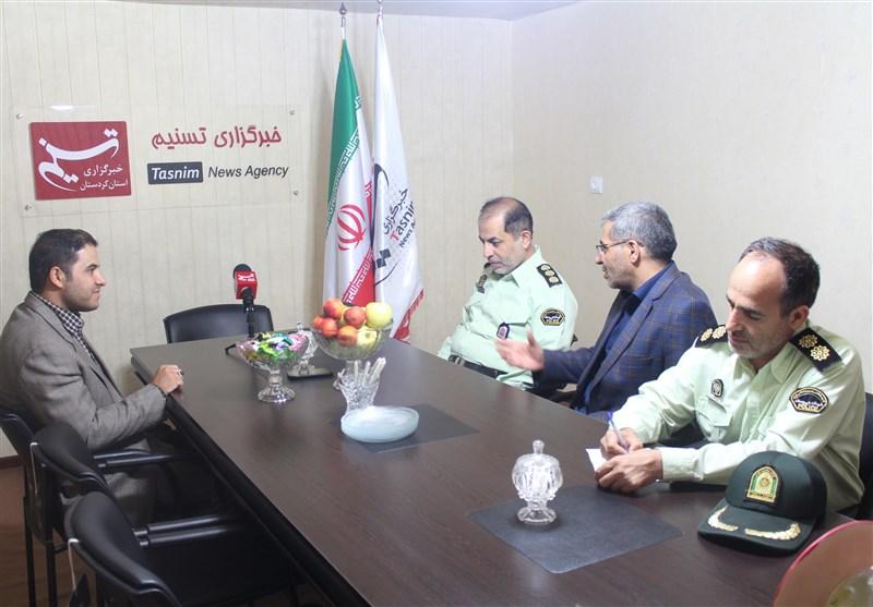 فرماندهان انتظامی استان کردستان از دفتر تسنیم بازدید کردند+تصاویر