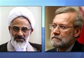 دیدار نماینده ولی فقیه سپاه پاسداران با لاریجانی