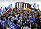 Scottish Independence Supporters Rally in Edinburgh