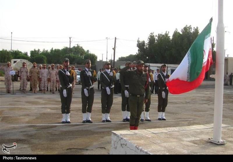 صبحگاه مشترک نیروهای مسلح استان ایلام به روایت تصویر