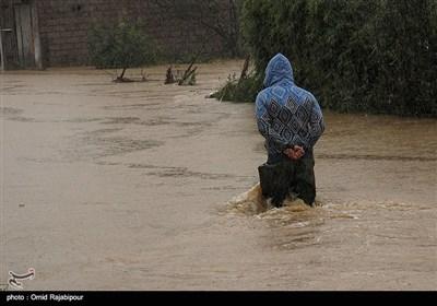 جاری شدن سیل در شرق گیلان