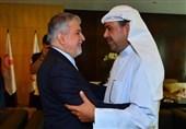 دیدار صالحیامیری با شیخ احمد و نایب رئیس شورای المپیک آسیا