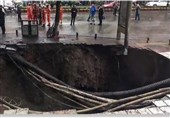 Footage Shows Horrifying Moment Four Pedestrians Being Swallowed by Sinkhole in China (+Video)