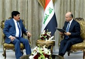 عراق دیدار سفیر سوریه با رئیسجمهور/ پیام کتبی اسد برای صالح