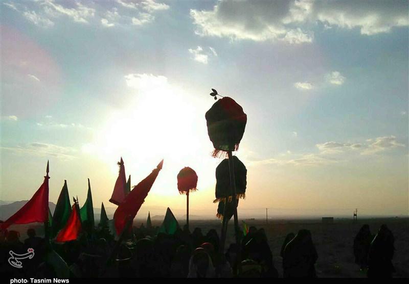 کرمان| ورود نمادین کاروان اسرای کربلا به شام به روایت تصویر