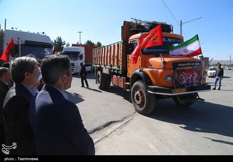 ۱۰۵ کامیون برای خدمترسانی به زائران اربعین از خراسان جنوبی به عراق اعزام شد