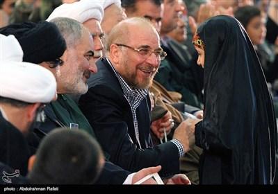 محمدباقر قالیباف در مراسم سومین سالگرد شهادت سردار همدانی- همدان