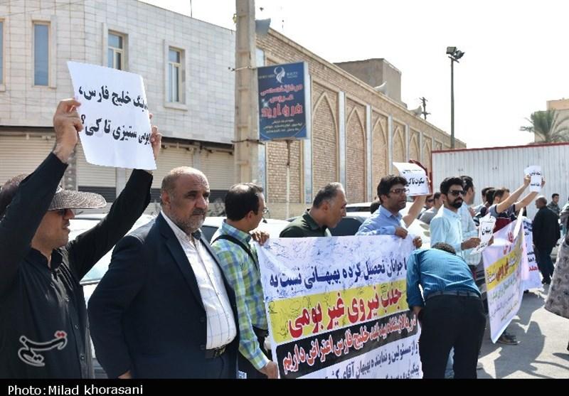 خوزستان| اعتراض جوانان بهبهانی به نتایج آزمون پالایشگاه گاز بید بلند + تصاویر