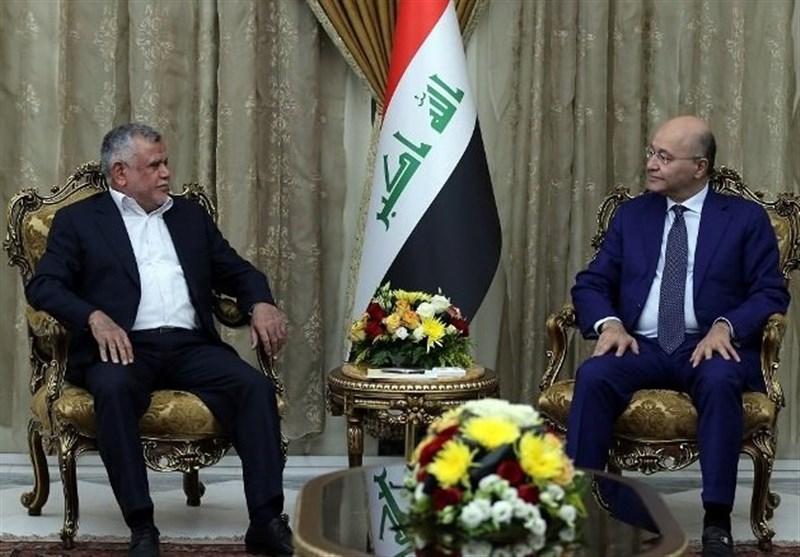 دیدار رئیس ائتلاف الفتح با رئیس جمهوری عراق