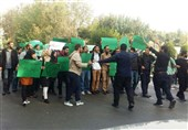 تجمع دانشجویان حامی روحانی علیه روحانی در دانشگاه تهران + عکس