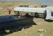 لرستان| واژگونی تانکر سوخت محور پلدختر- اندیمشک را مسدود کرد