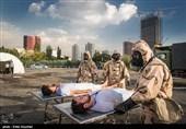 رزمایش مقابله با حملات شیمیایی در بیمارستان بقیة الله الاعظم (عج)