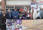 مراسم استقبال از قهرمانان پارآسیایی گلستان برگزار شد