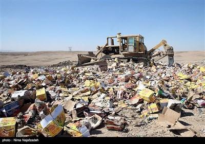 امحای کالای قاچاق - مشهد
