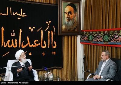 دیدار سید محمد بطحائی وزیر آموزش و پرورش با آیت الله نوری همدانی