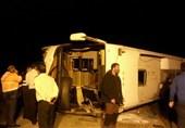 سمنان  پایان عملیات امدادی سانحه واژگونی اتوبوس در آهوان؛ سرعت غیرمجاز از جادههای سمنان قربانی گرفت