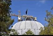 کرمان| آخرین وضعیت ساخت گنبد حرم امام حسین(ع) در کرمان به روایت تصویر