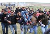 زخمی شدن دهها فلسطینی در حمله نظامیان صهیونیست به راهپیمایی بازگشت