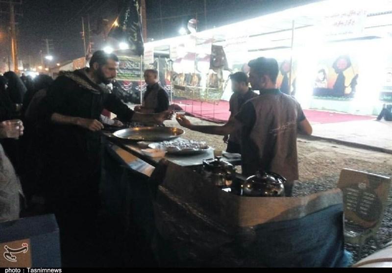 اخبار اربعین 98| برپایی موکب اربعین شهدای مدافع حرم بوشهر در مرز شلمچه 