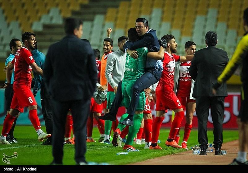 لیگ برتر فوتبال| پیروزی نساجی مقابل استقلال خوزستان در 45 دقیقه اول با یک اخراجی