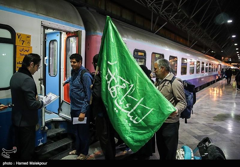 ۴ رام قطار در شلمچه آماده جابهجایی زائران است