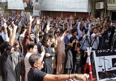 فیصل رضا عابدی کی گرفتار کےخلاف مظاہروں کا سلسلہ جاری